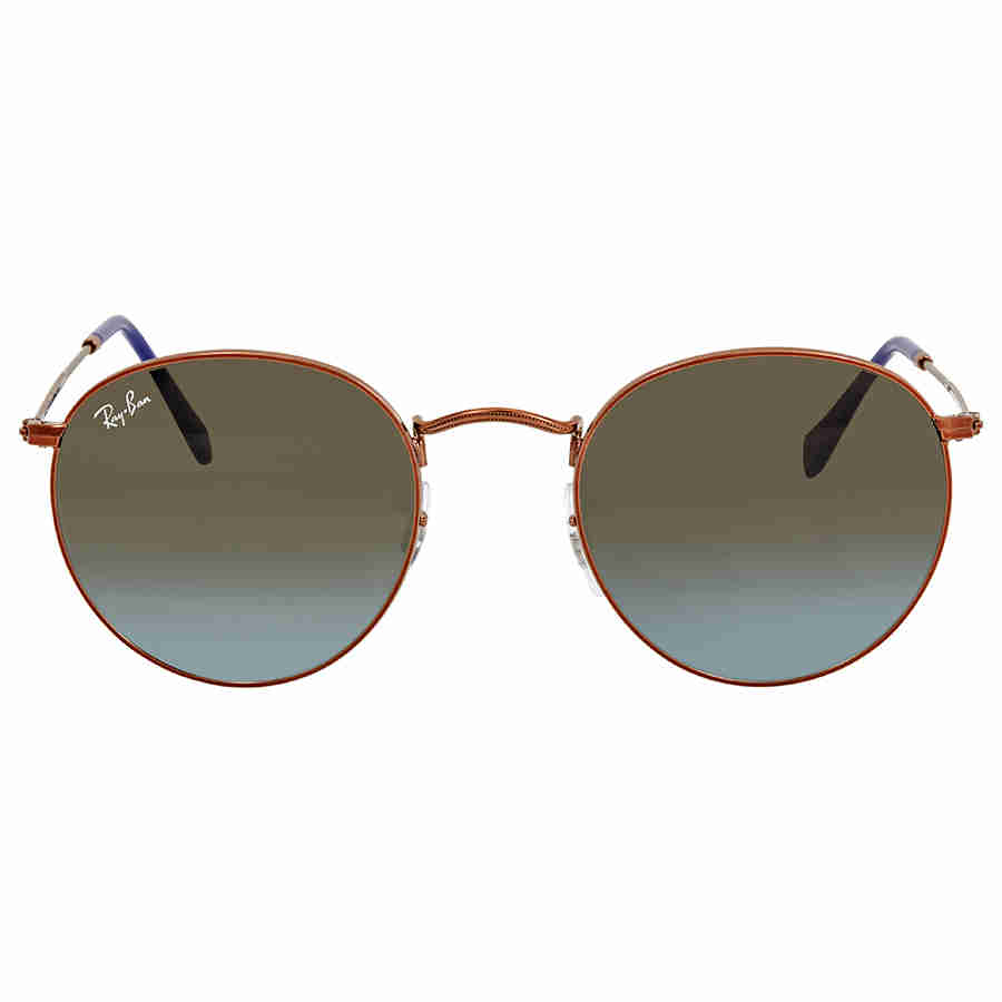 2ad17a568f Ray Ban Blue Brown Gradient Round Men s Sunglasses RB3447 900396 50 ...