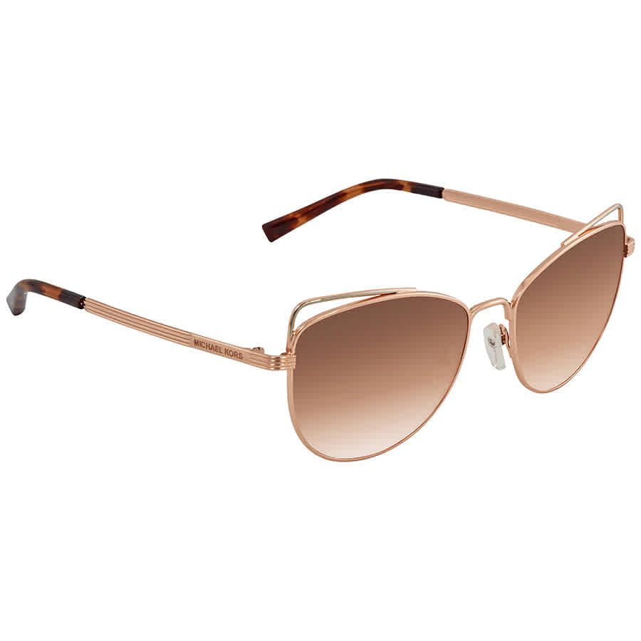 4e7aec09689 Michael Kors St. Lucia Brown Peach Gradient Cat Eye Ladies Sunglasses MK1035  110813 55