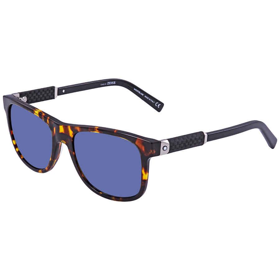 48d8d156e7 Montblanc Blue Rectangular Sunglasses MB654S 55V 56 MB654S 55V 56