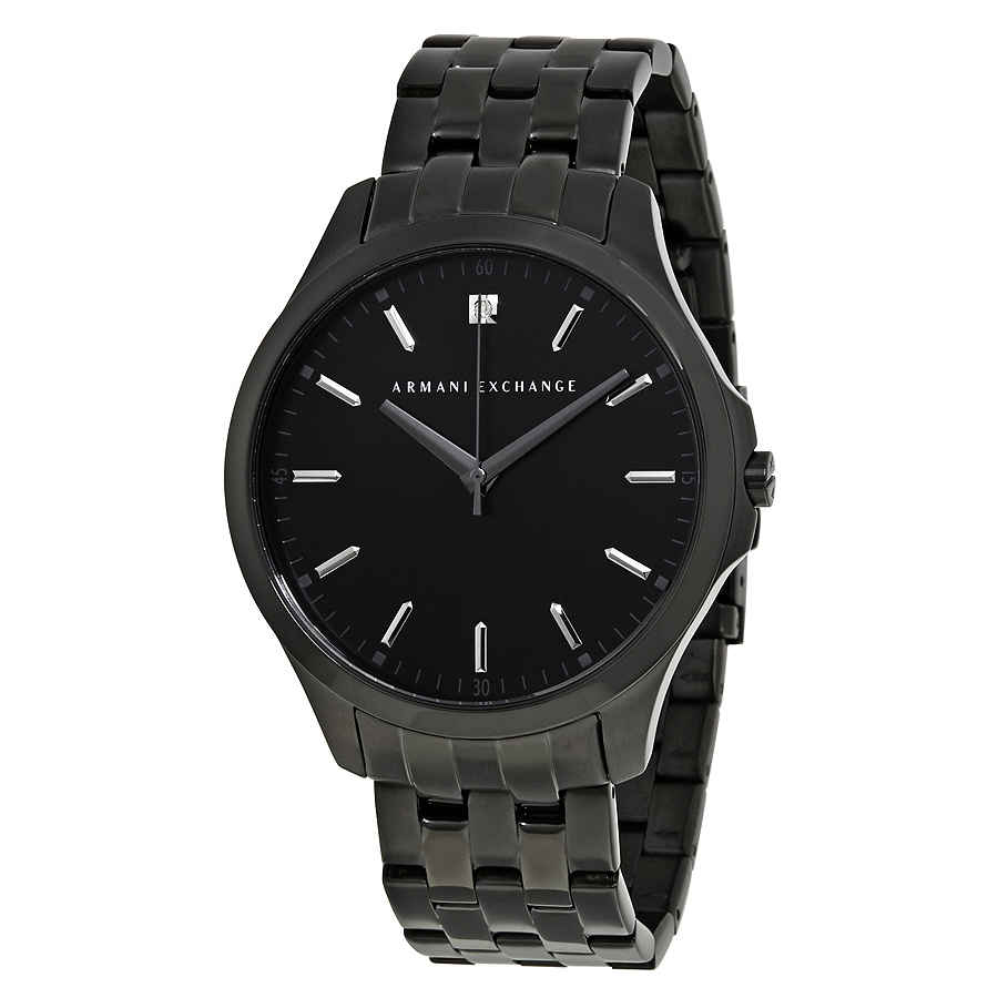 318116992cf0 Armani Exchange Black DIal Black PVD Stainless Steel Men s Watch AX2159