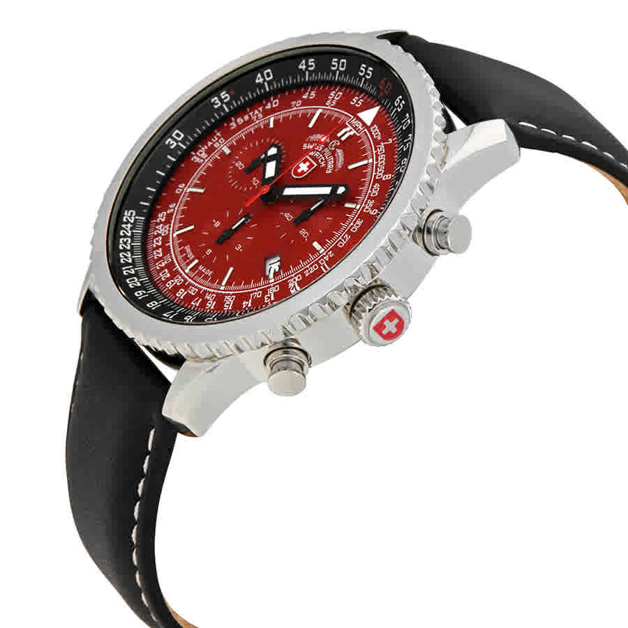 Swiss-Military-Thunderbolt-Men-039-s-Chronograph-Watch-Choose-color thumbnail 39