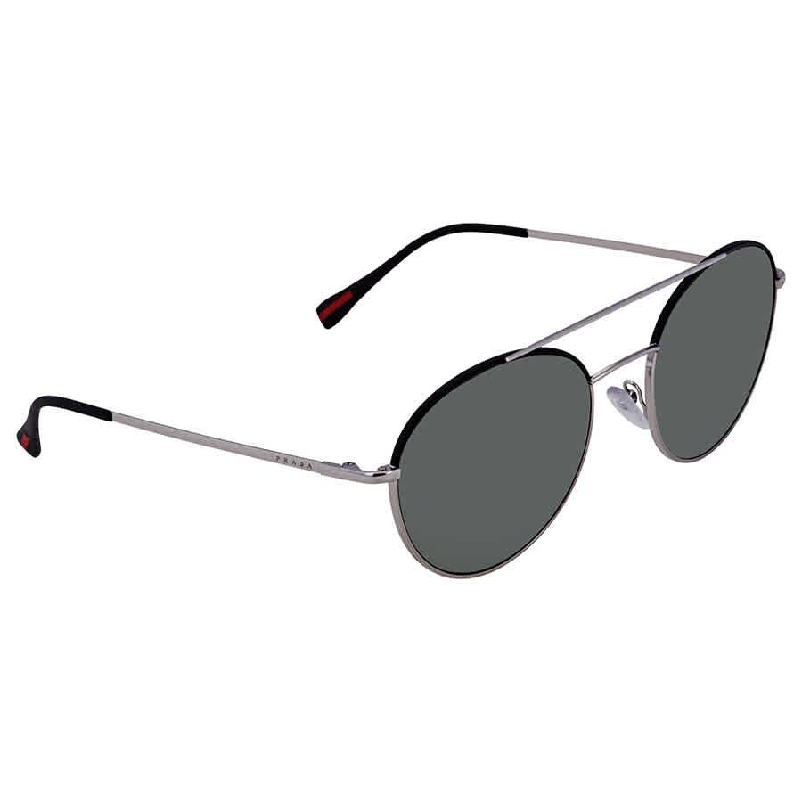 21b99211057a8 Prada Linea Rossa Round Men s Sunglasses PR PS51SS GAQ5X1 54 PR ...