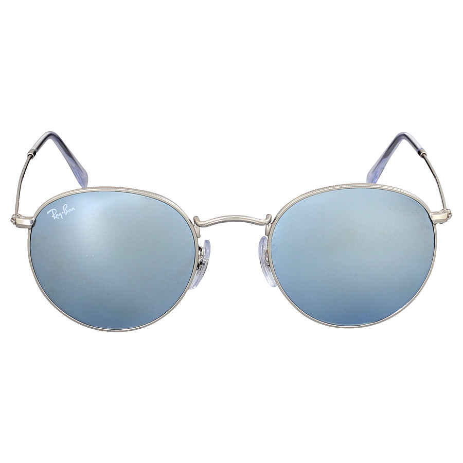 5def19614f4 Ray-Ban Round Silver Flash Sunglasses RB3447 019 30 50 RB3447 019 30 ...