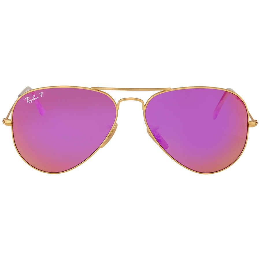 d210be3b2a Ray Ban Aviator Polarized Cyclament Flash Sunglasses RB3025 112 1Q ...