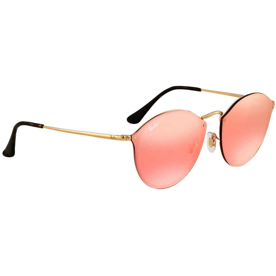 04baf0667cc7f Ray Ban Blaze Pink Mirror Round Sunglasses RB3574N 001 E4 59 RB3574N ...