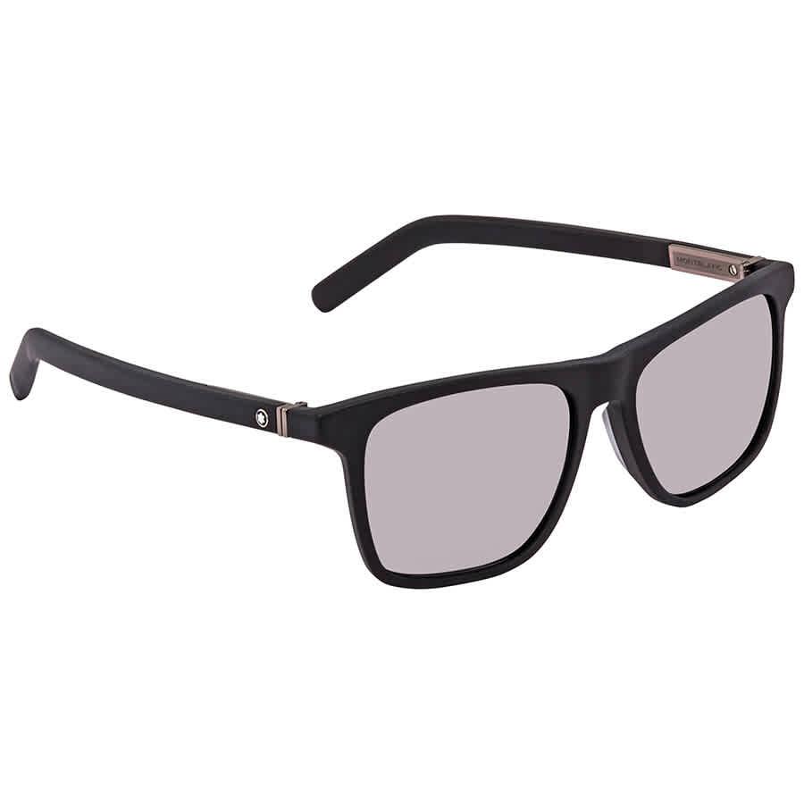 e50c7e7099 Montblanc Grey Rectangular Sunglasses MB719S 02C 56 MB719S 02C 56 ...