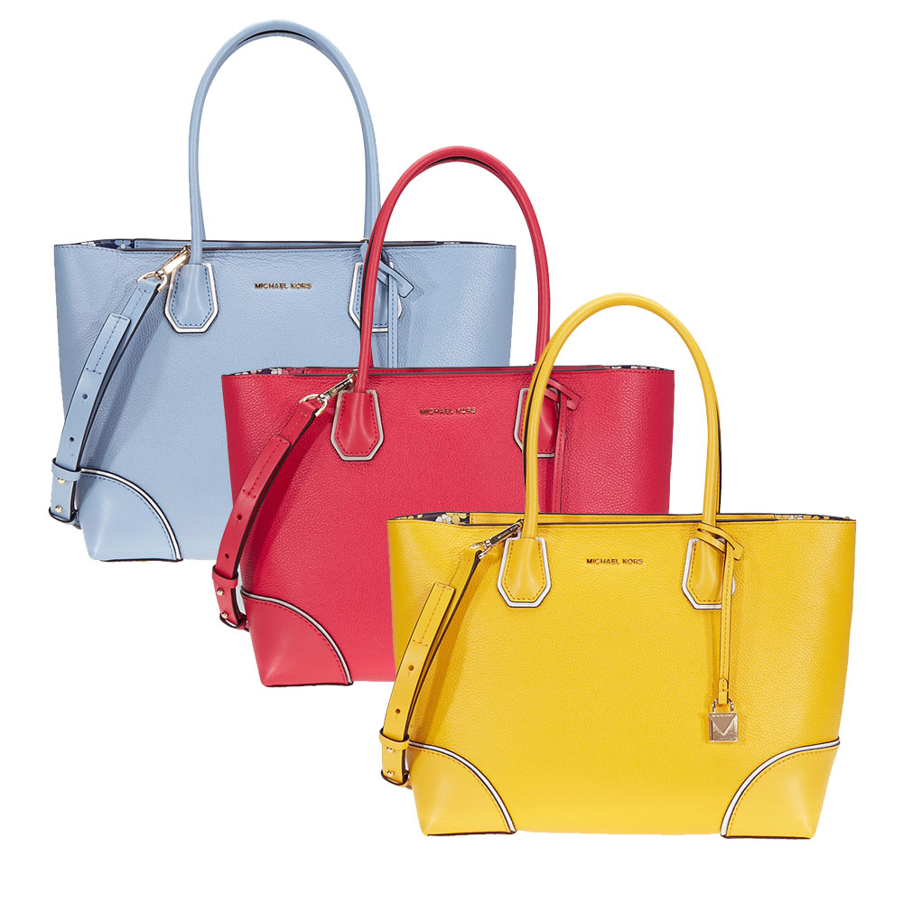14db5726ecc5 Details about Michael Kors Mercer Gallery Medium Leather Tote - Choose color