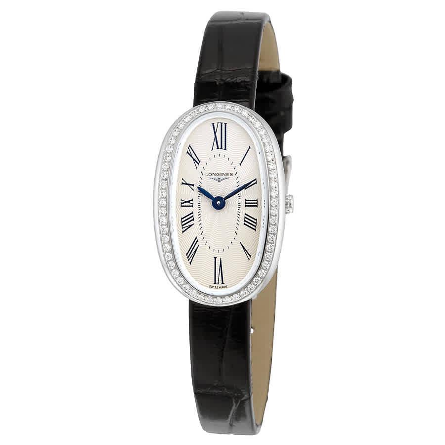 15a2622f4 Longines Symphonette Silver Dial Black Leather Ladies Watch L23050710