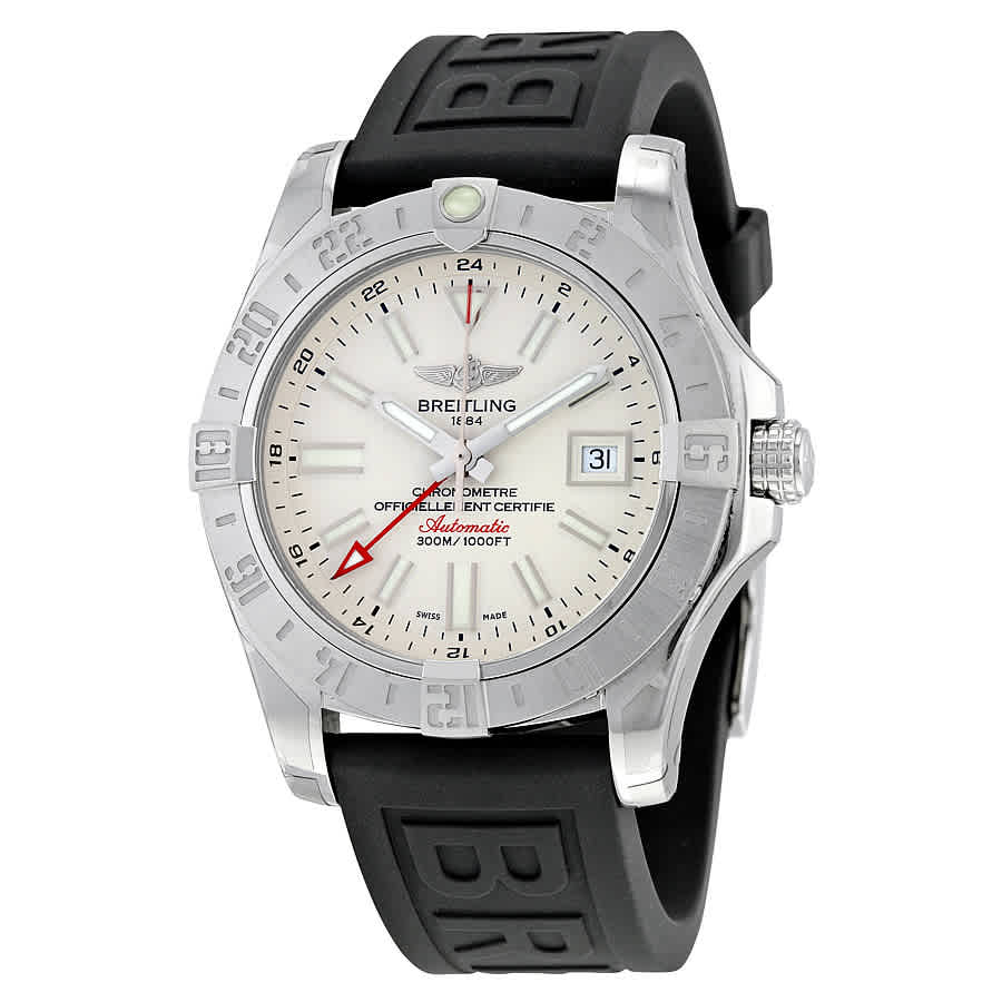 new concept c29be a2b9b Details about Breitling Avenger II GMT Silver Dial Men's Watch  A3239011-G778BKPT3