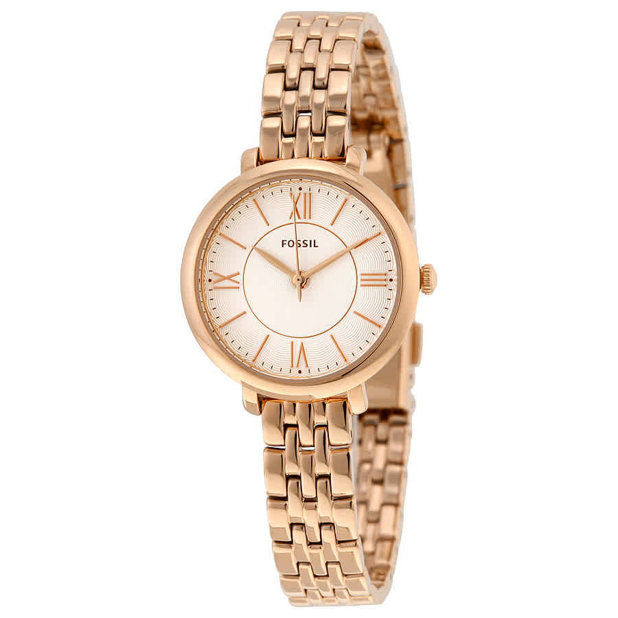 e38200888985 Fossil Jacqueline Silver Dial Rose Gold-tone Ladies Watch ES3799