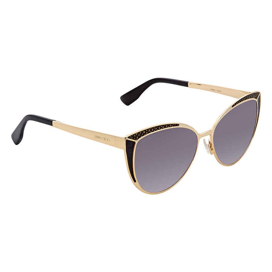 ea0f29bcddf Jimmy Choo Dark Grey Cat Eye Sunglasses DOMI S 569C 56 DOMI S 569C ...