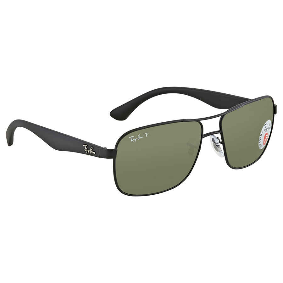 51753f943b Ray Ban Green Square Polarized Sunglasses RB3516 006 9A 59 RB3516 ...