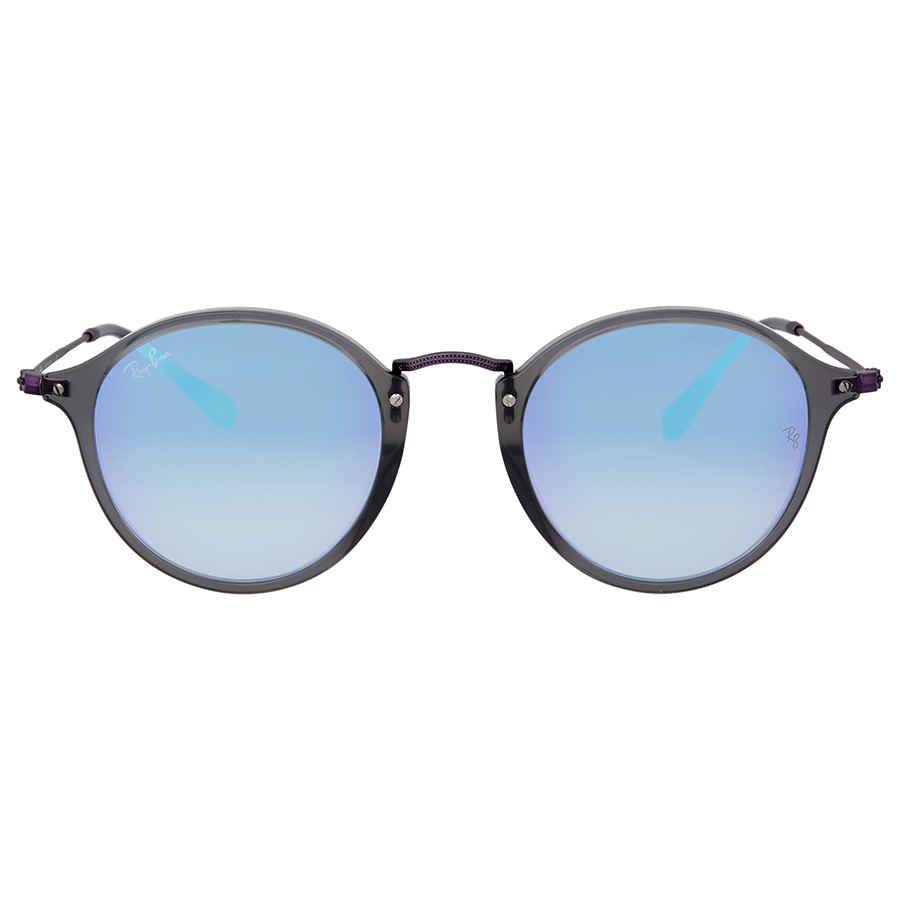 375f4742b2 Ray Ban Round Blue Gradient Flash Sunglasses RB2447N 62554O 49 ...