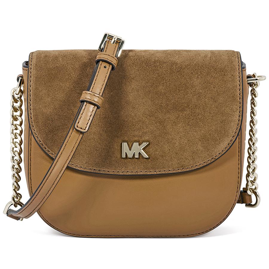 561b4dcf4fa6 Michael Kors Leather and Suede Saddle Bag - Choose color