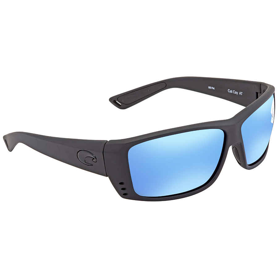 fd06297e611 Costa Del Mar Cat Cay Blue Mirror 580G Polarized Rectangular Sunglasses AT  01 OBMGLP
