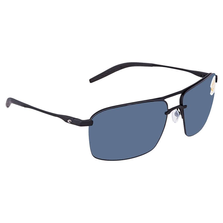 d981ed5887 Costa Del Mar Skimmer Gray Polarized Plastic Rectangular Sunglasses SKM 11  OGP