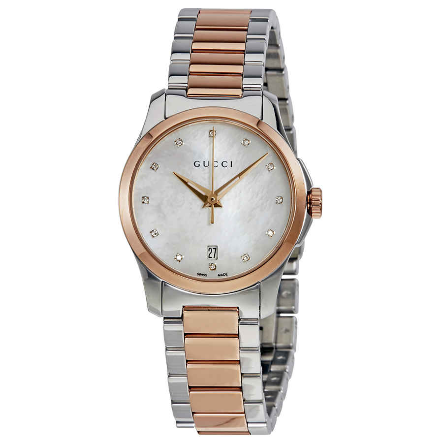 a0f189c3ce0 Gucci G-Timeless Diamond Mother of Pearl Dial Ladies Watch YA126544 ...