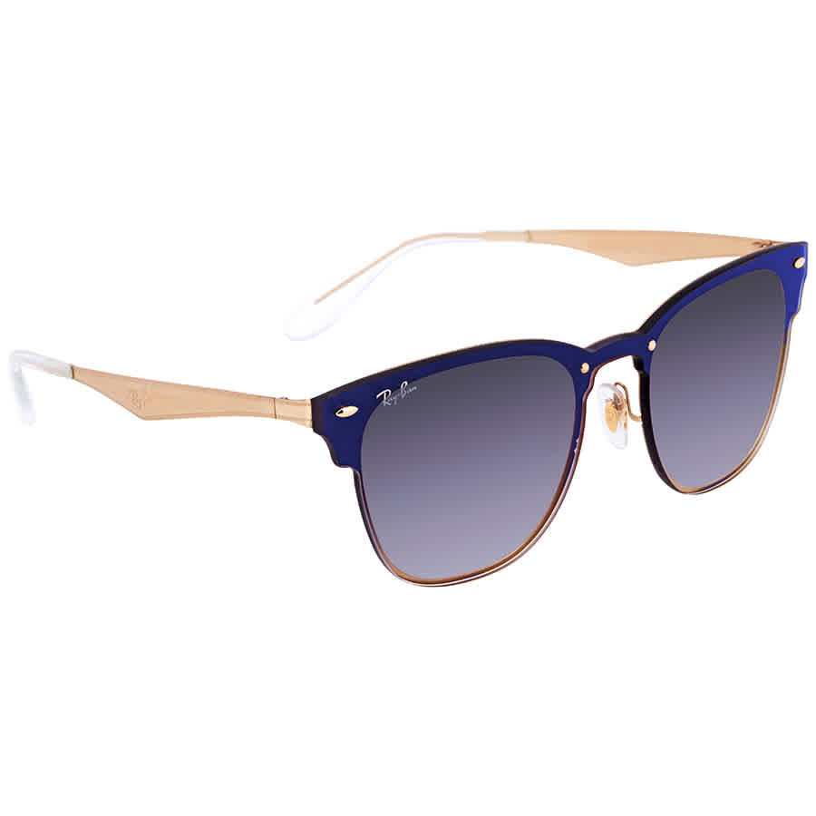 f7429617c65f5 Ray Ban Blaze Clubmaster Blue Gradient Mirror Square Sunglasses RB3576N 043 X0  41