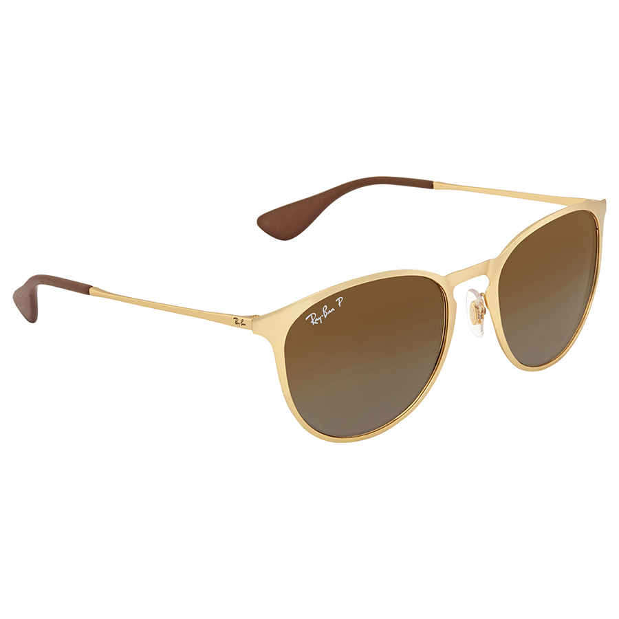 da29e7692f7 Details about Ray Ban Erika Polarized Brown Gradient Round Sunglasses  RB3539 112 T5 54