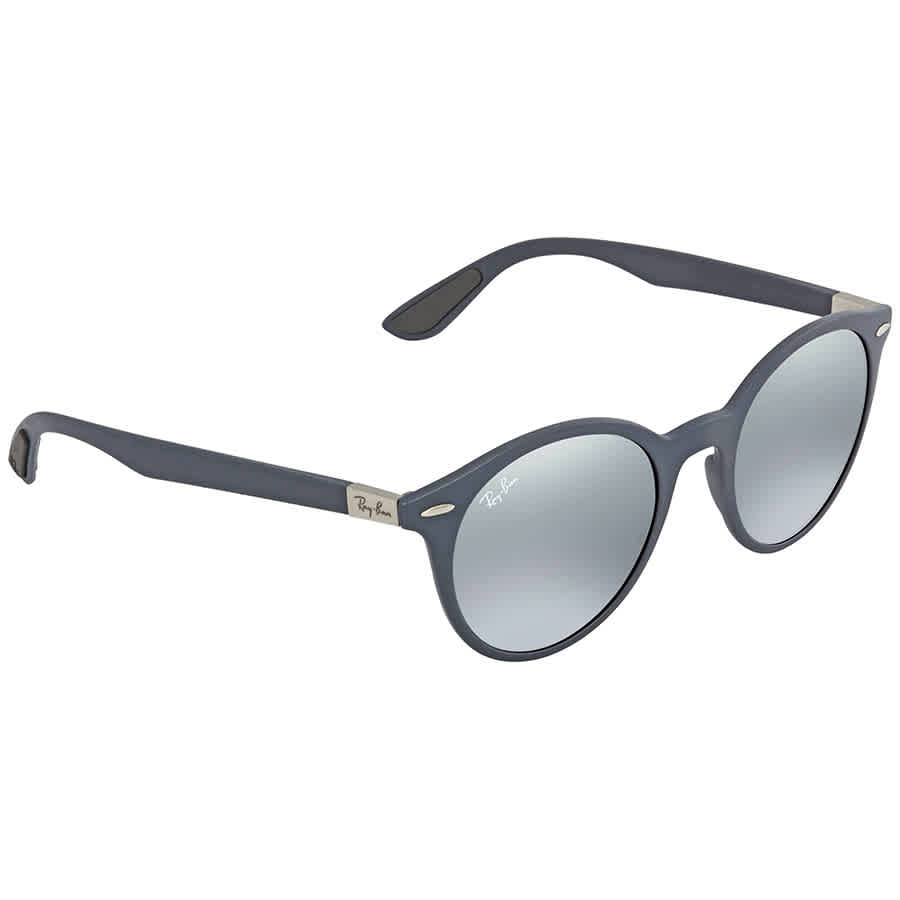 6766382e90 Ray Ban Grey Gradient Mirror Round Sunglasses RB4296 633288 51 ...