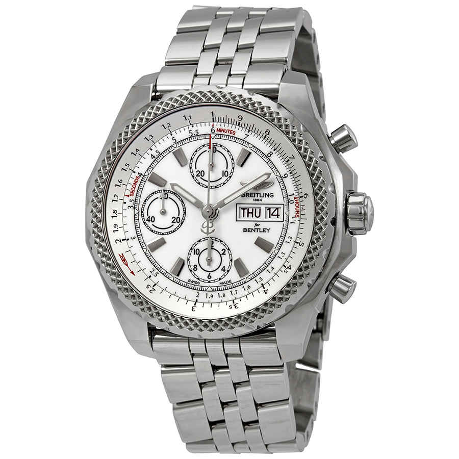 Breitling Bentley Gt Ii Chronograph Automatic Chronometer White Dial