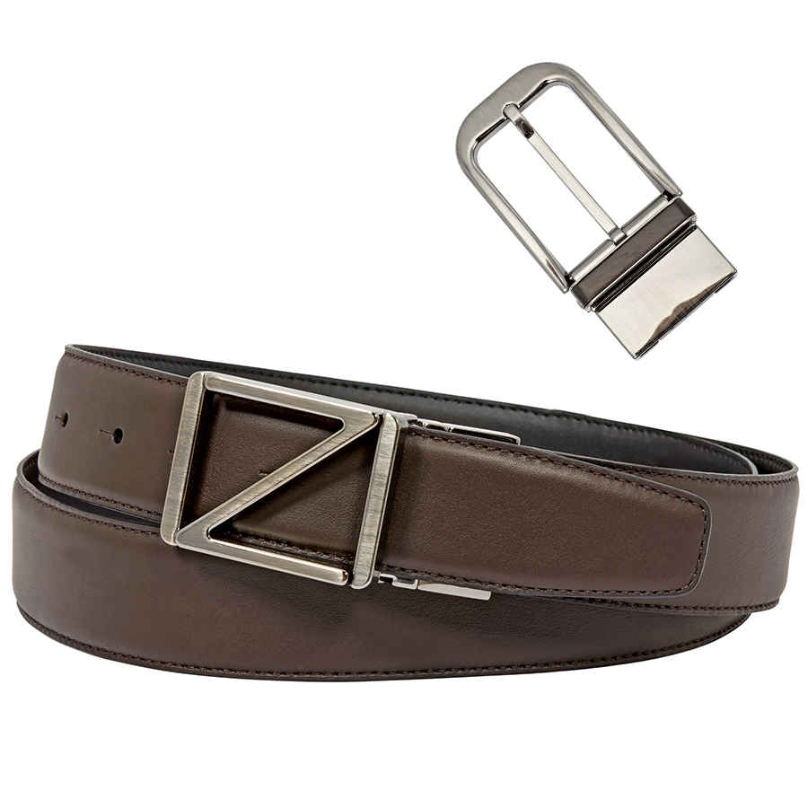 33772b10d1 Details about Ermenegildo Zegna XXL Black/Brown Reversible Belt - 43
