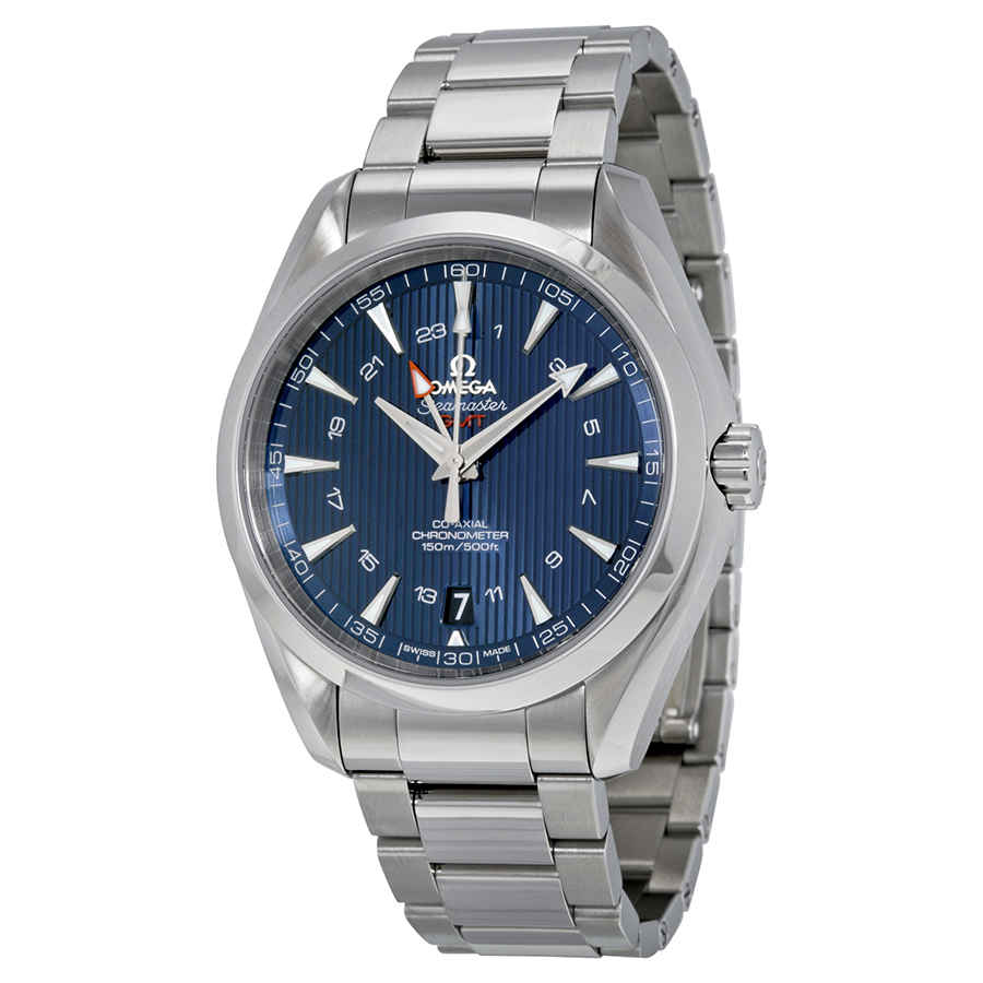 Omega Seamaster Aqua Terra GMT Automatic Blue Dial Men's ...