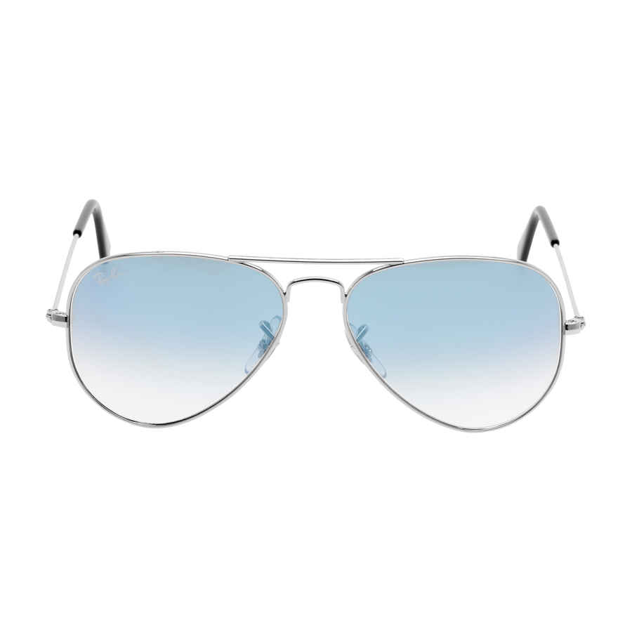 4a080bd58b Details about Ray Ban Original Aviator Blue Gradient Sunglasses  RB3025-0033F-55