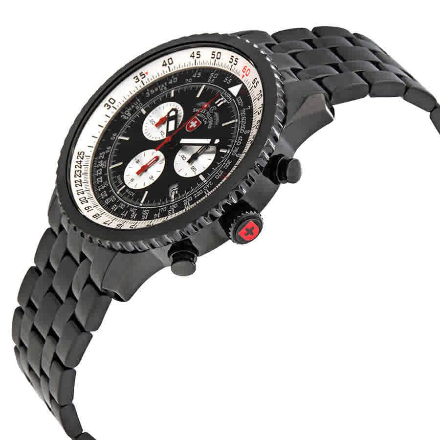 Swiss-Military-Thunderbolt-Men-039-s-Chronograph-Watch-Choose-color thumbnail 6