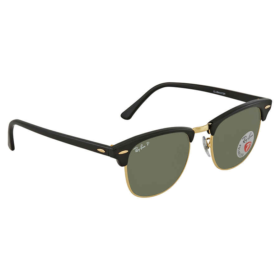 3484a400b6e Ray Ban Clubmaster Classic Green Classic Polarized G-15 Sunglasses RB3016  901 58 51