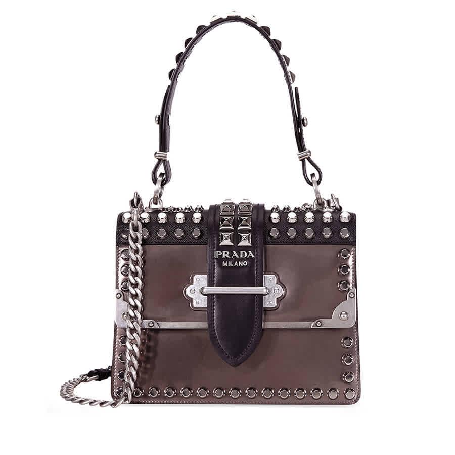 c190abcc15 Prada Cahier Studded Leather Crossbody Bag 1BA185 F0G22 c V CNH ...