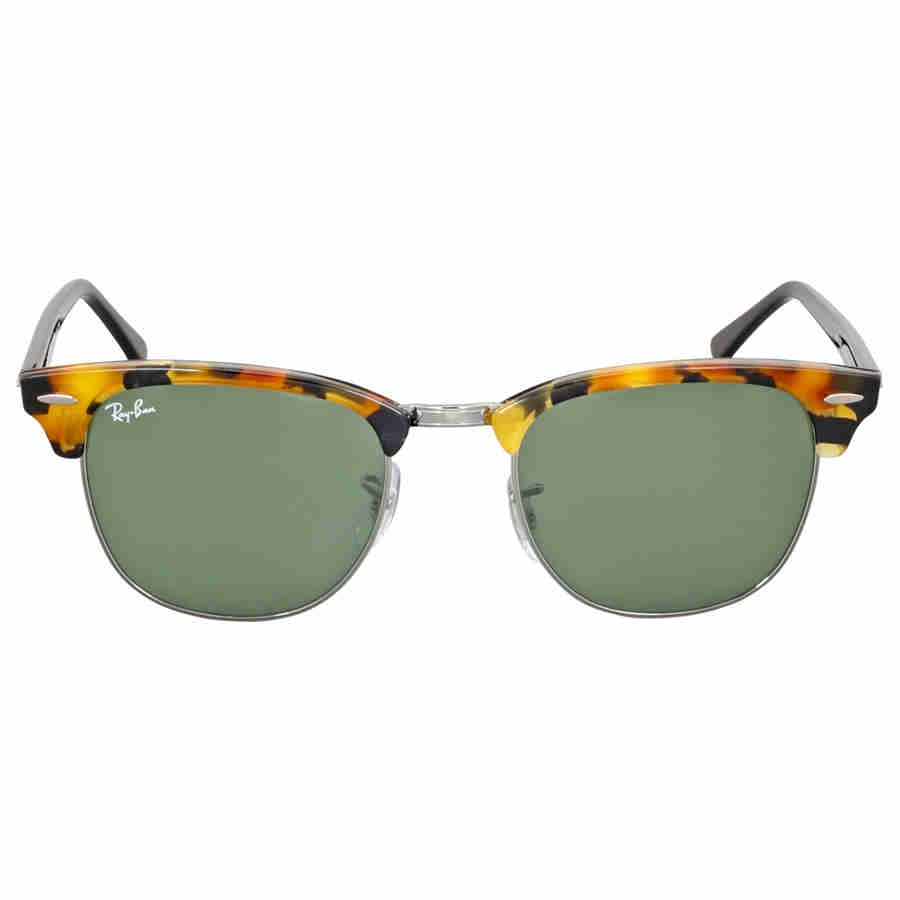 91d75cfeec6 Ray Ban Clubmaster Green Classic G-15 Sunglasses RB3016 1157 51 ...