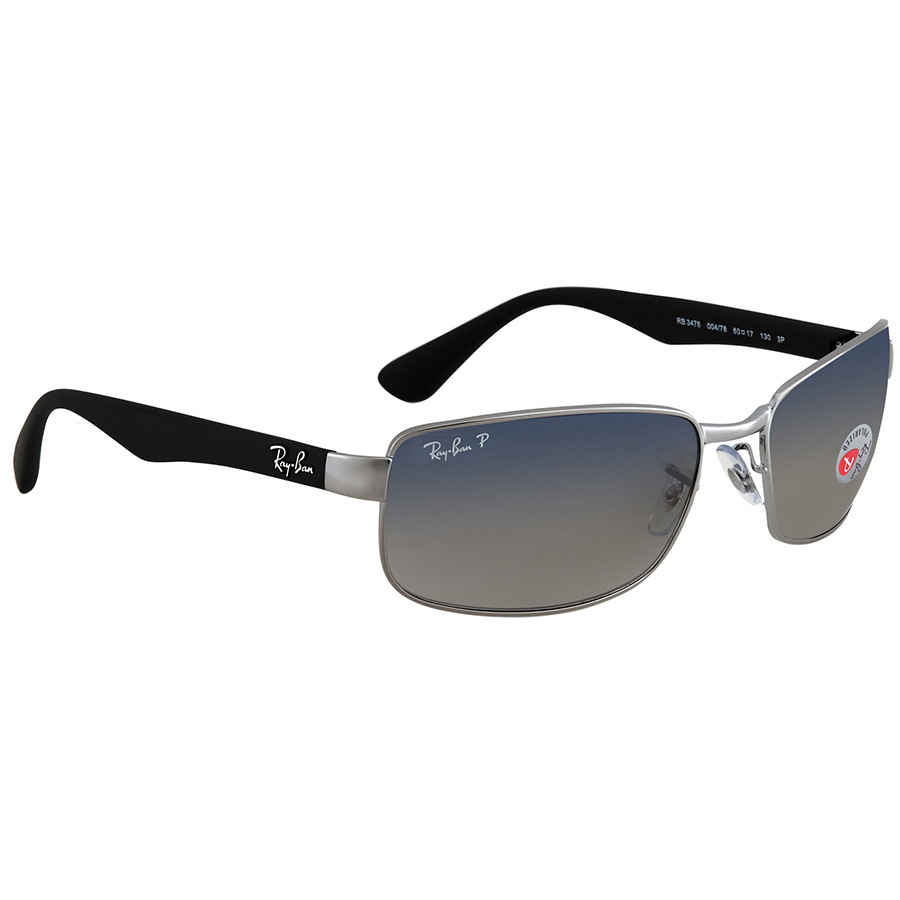 Ray Ban Blue, Grey Gradient Square Polarized Sunglasses RB3478 00478 ... a75c6d15d4
