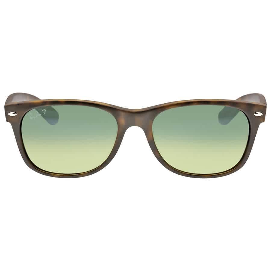 f8982942762 Ray-Ban New Wayfarer Havana Blue-Green 55mm Polarized Sunglasses  RB2132-89476-55