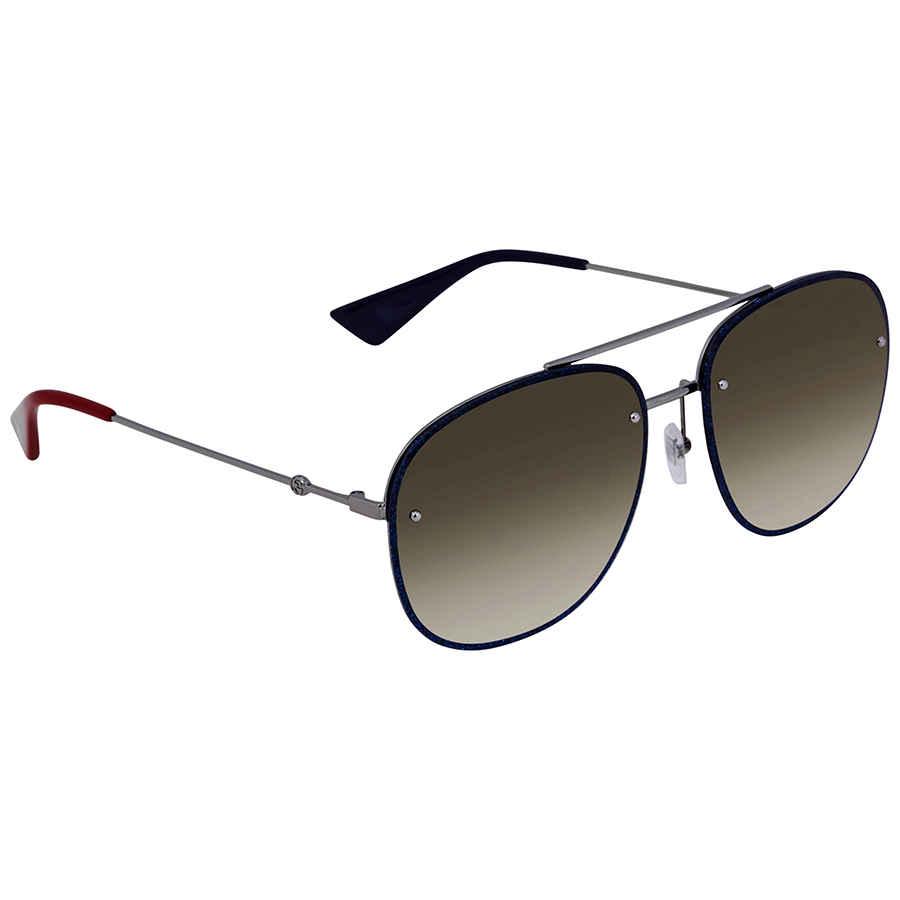 70c36a93998 Gucci Brown Gradient Aviator Sunglasses GG0227S 002 62 GG0227S 002 ...