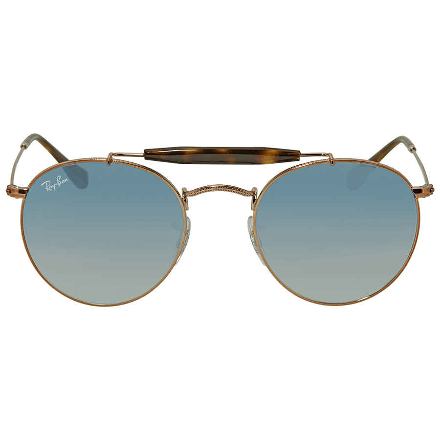 7431fb5aa8 Ray Ban Light Blue Gradient Round Sunglasses RB3747 90353F 50 RB3747 ...