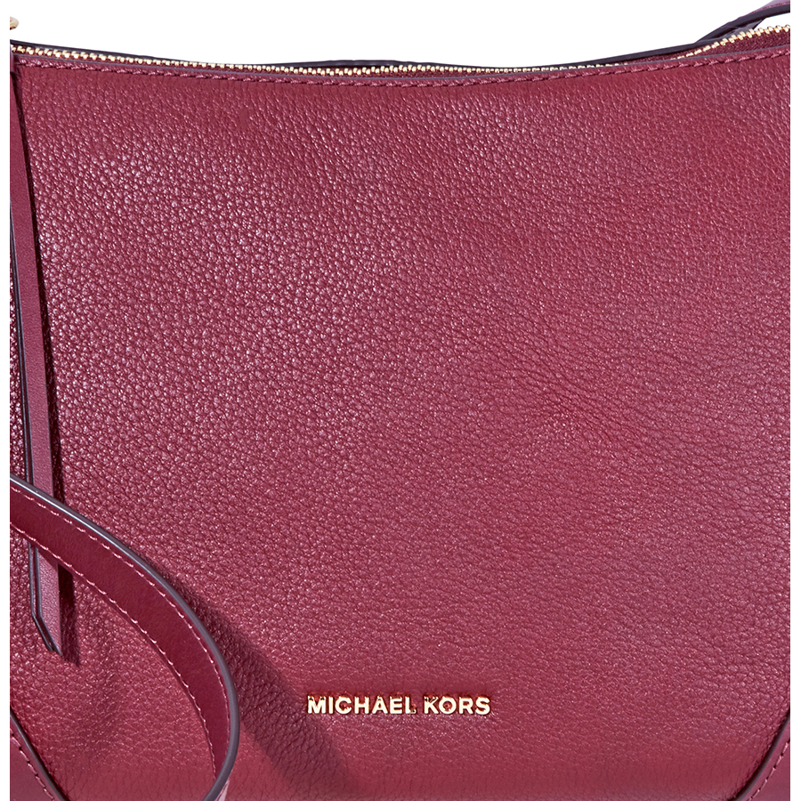 Michael-Kors-Crosby-Medium-Pebbled-Leather-Messenger-Bag-Choose-color miniatura 23
