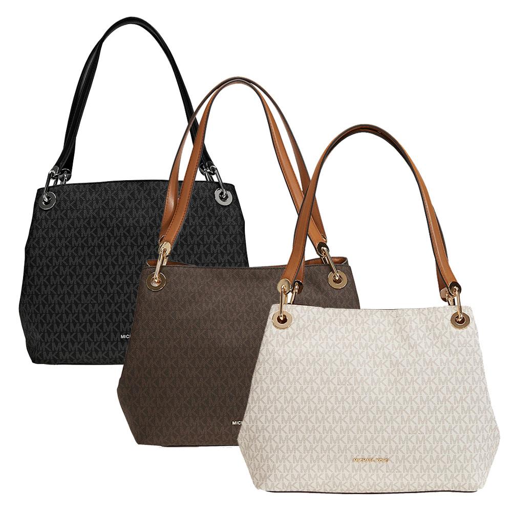 70524a3711d8 Michael Kors Raven Large Leather Shoulder Bag - Choose color | eBay