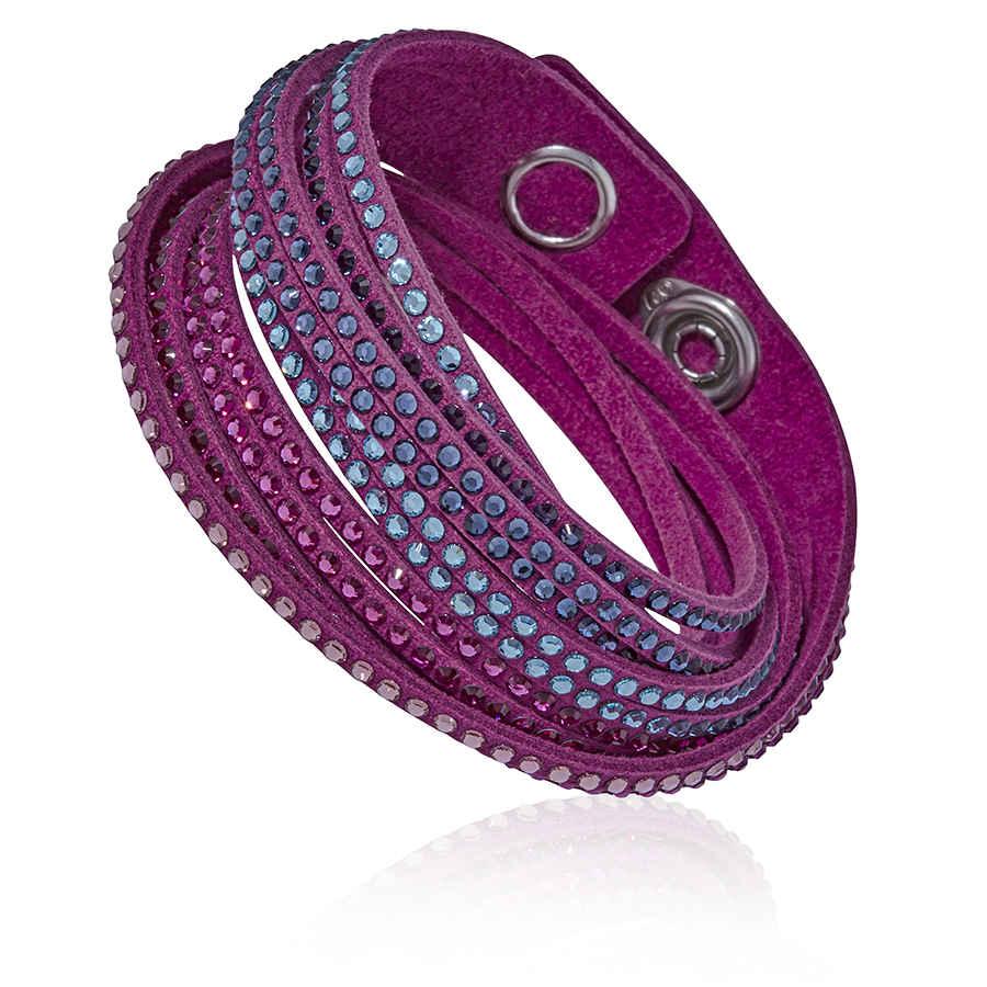 63e36ab3abf5c Swarovski Slake Fuchsia 2 in 1 Ladies Bracelet 5202465 9009652024656 ...