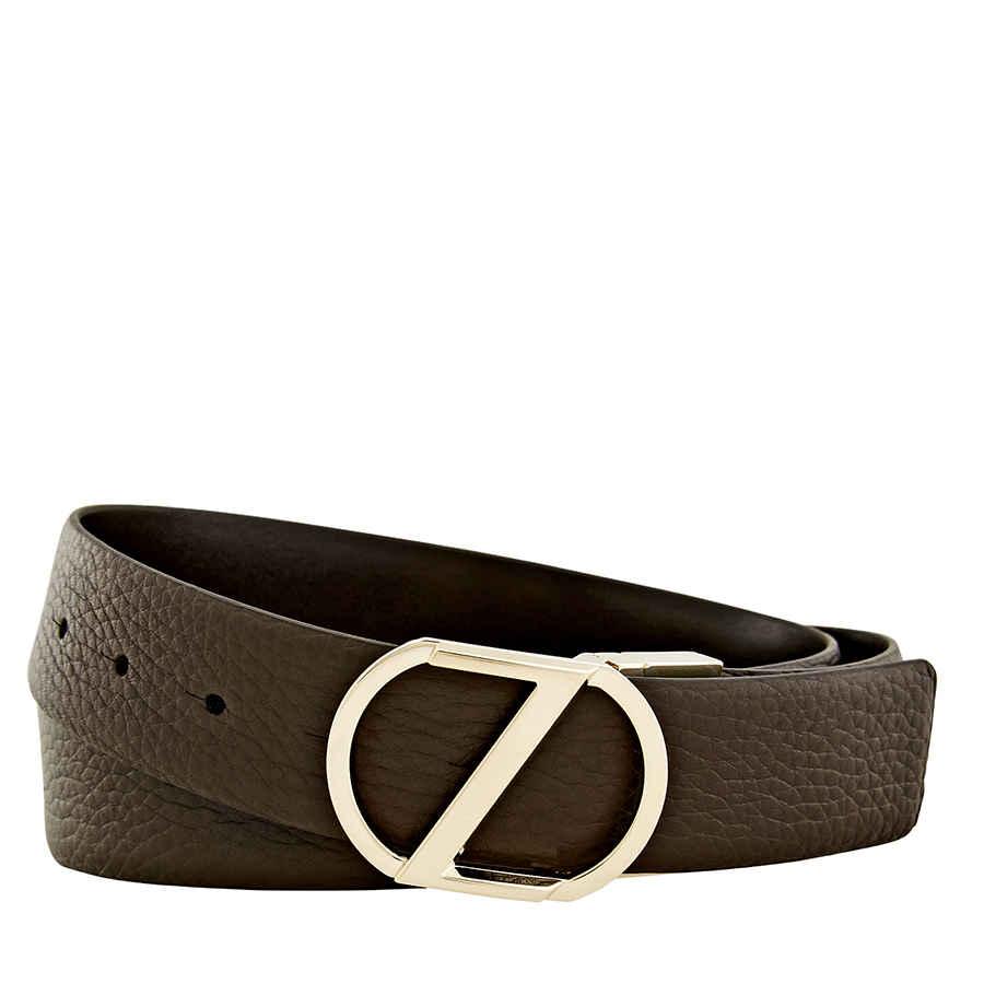 03154a9c5a Details about Zegna Men's XXL Reversible Calfskin Leather Belt - Brown 43