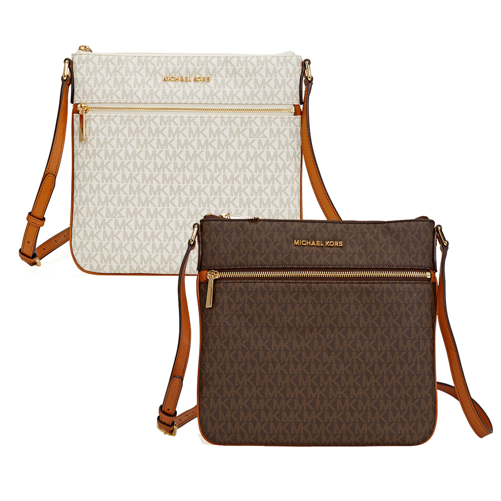 michael kors bedford signature flat crossbody choose color ebay rh ebay com