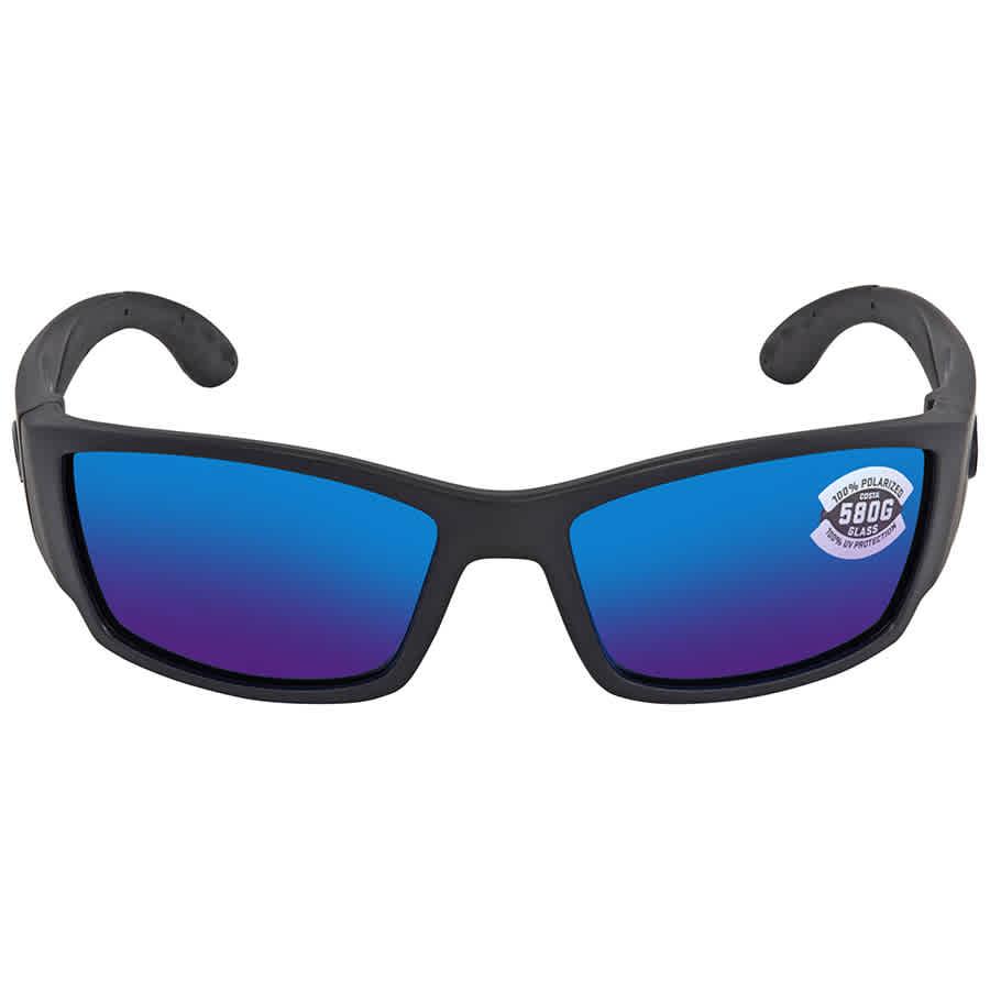 9ca6409f228c3 Costa Del Mar Corbina Blue Mirror Polarized Glass Large Fit Sunglasses CB  01 OBMGLP