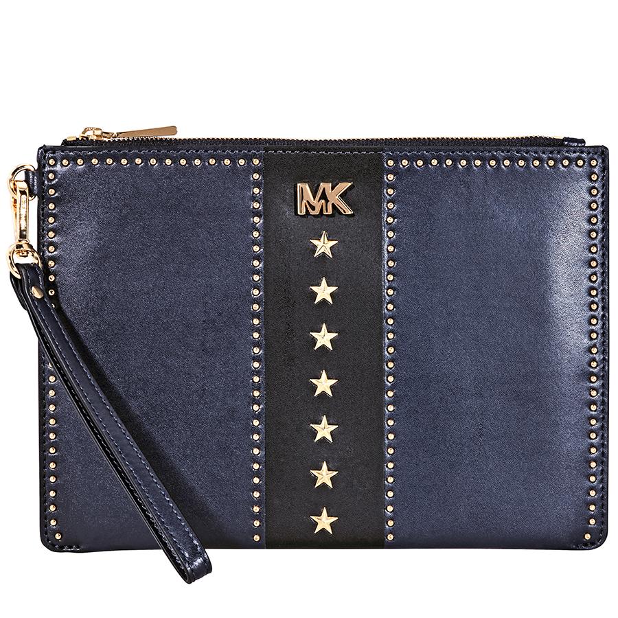 b8a4d258e Michael Kors Medium Leather Zip Pouch - Choose color | eBay