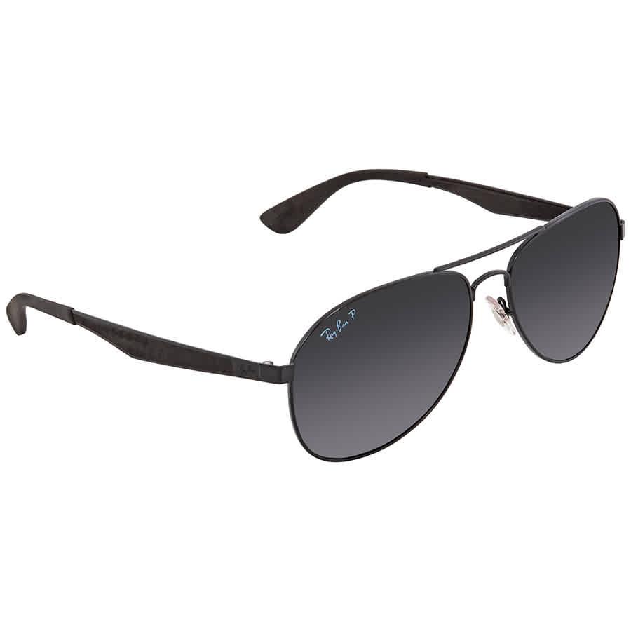 52b171af2ea Ray Ban Polarized Dark Grey Gradient Aviator Sunglasses RB3549 002 T3 61