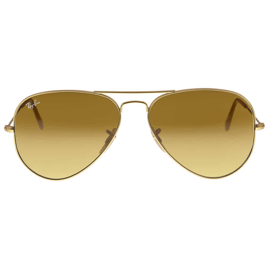 RayBan Aviator Gold Brown Gradient 58mm Unisex Sunglasses 11285 ... 1809599762