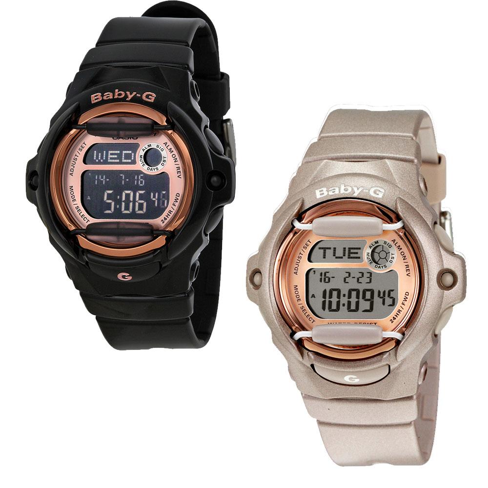 147bf4f141278 Casio Baby G Digital Dial Black Resin Ladies Watch - Choose color