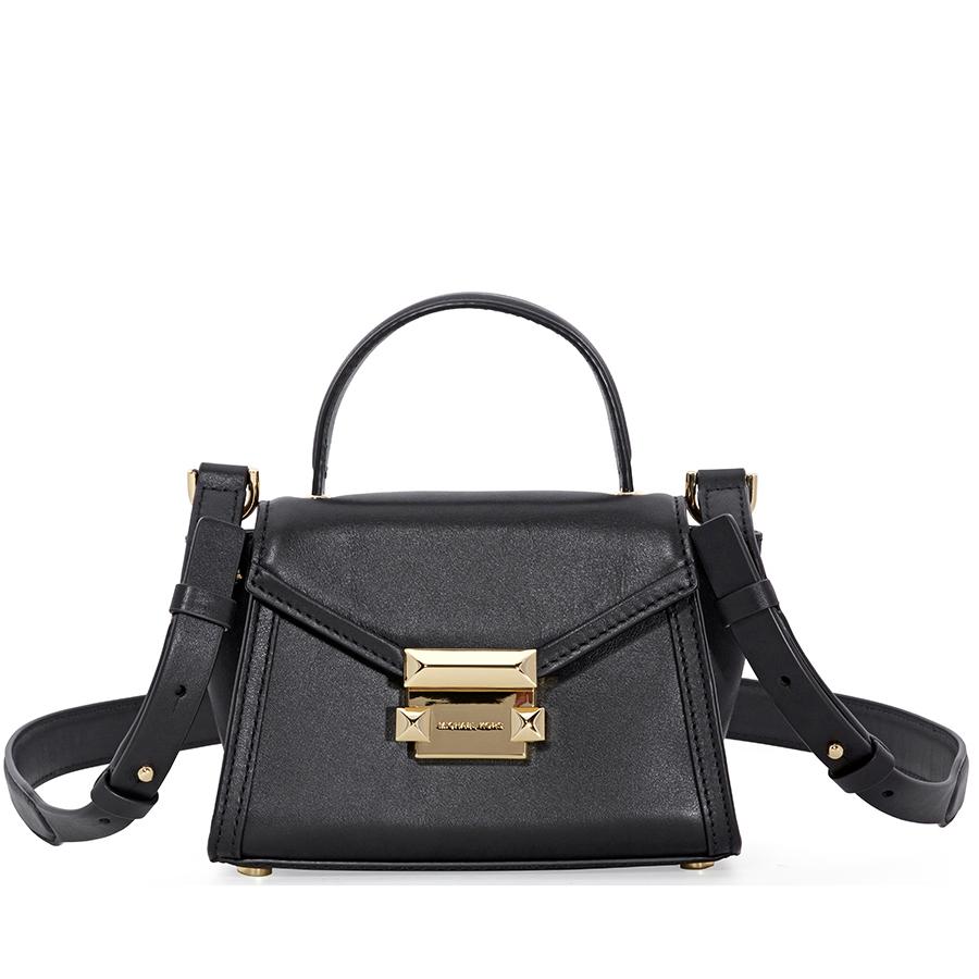 3ad3edb4bc06 Michael Kors Whitney Mini Leather Satchel - Black 192317312027
