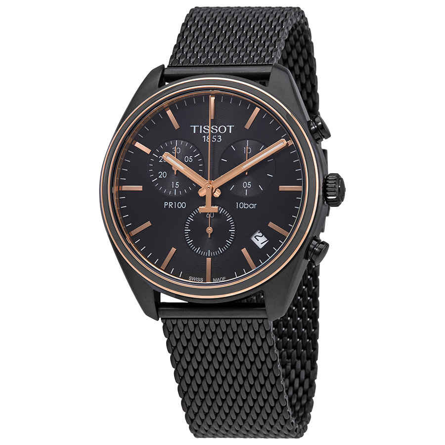 8b16ff0ae68 Tissot PR 100 Chronograph Black Dial Men s Watch T101.417.23.061.00 ...