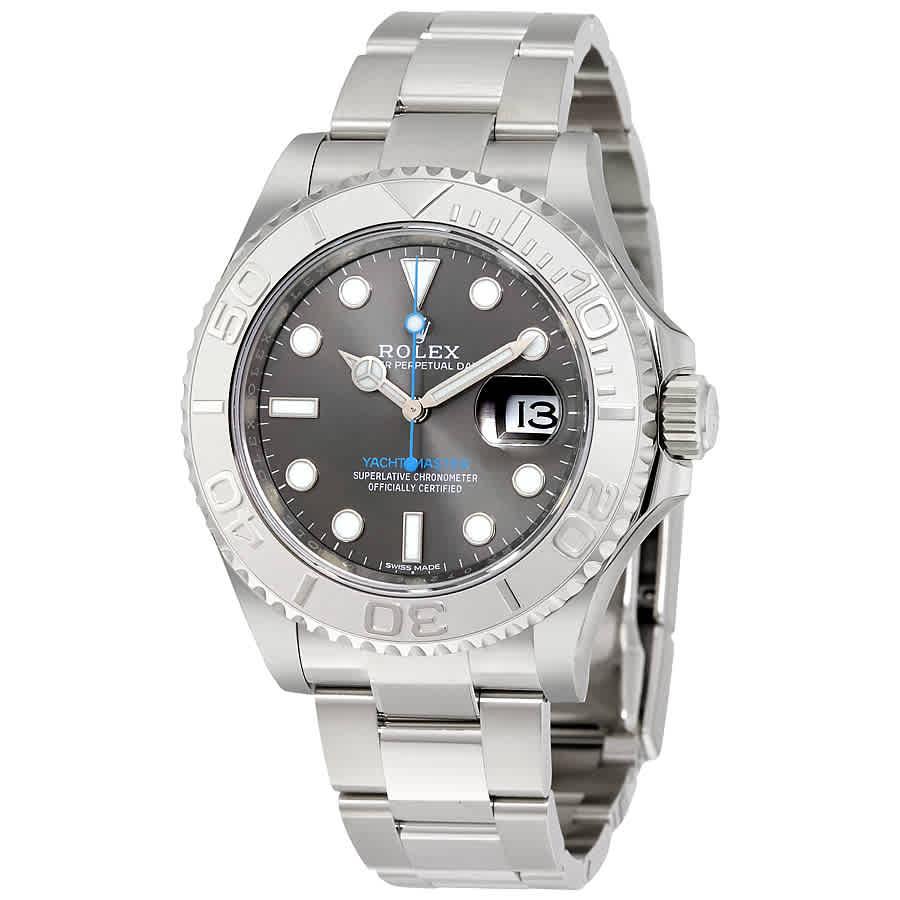963d9849184 Rolex Yacht-Master 40 Dark Rhodium Dial Steel Oyster Men s Watch 116622RSO