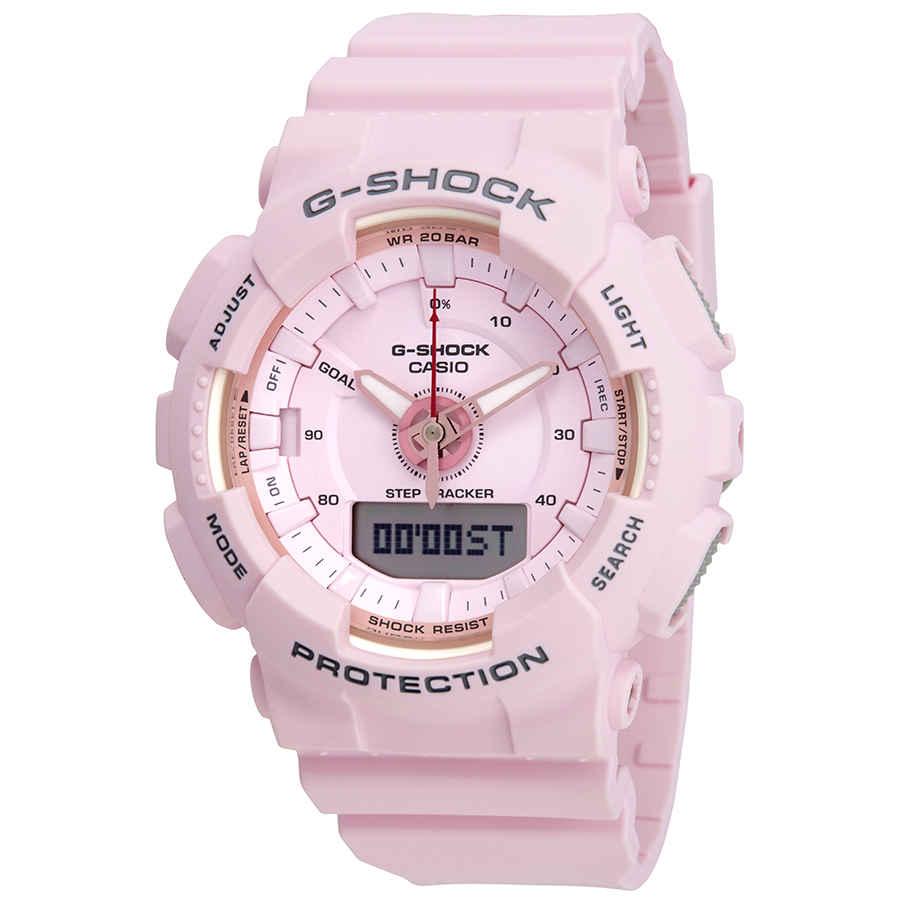 db306bcdabb Casio G-Shock S Series Alarm Pink Dial Ladies Watch GMA-S130-4ACR ...